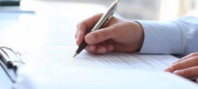 formulier invullen voor de boekhouding, belastingen en administratie